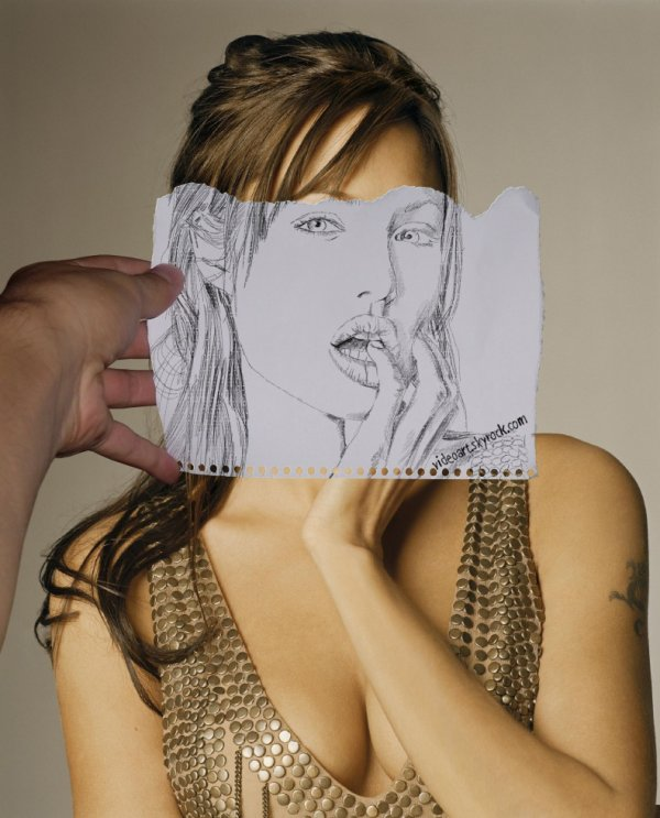 Angelina Jolie - Fragment Pencil Portrait