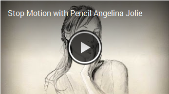 Stop Motion with Pencil Angelina Jolie