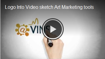 Logo Into Video sketch Art Marketing tools