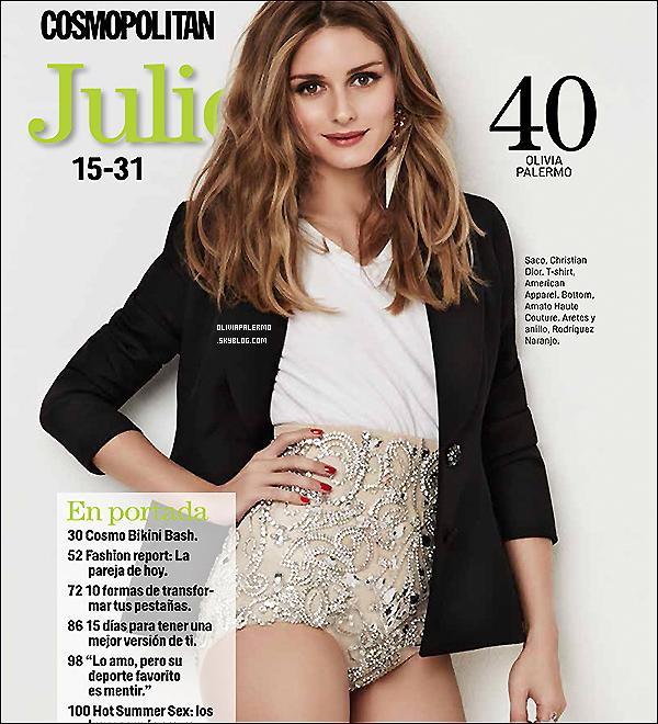 .  Olivia en couverture du Cosmoplitain Mexique de ce mois-ci ! .