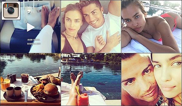 """.    • INSTAGRAM @IrinaShayk """" . Irina Shayk et son chéri, Cristiano Ronaldo, profitent d'un séjour au soleil à Mykonos et le couple n'a pas oublié de nous poster un petit selfie en amoureux sur Instagram.Le couple a pris la direction de Mykonos en Grèce pour un petit séjour détente! Plage, baignades, dégustations de Burgers au bord de l'eau... Le programme fait rêver. Bien qu'ils profitent de leurs jours de repos, le téléphone n'en est pas moins coupé. Irina n'oublie pas de nous poster quelques cartes postales souvenir depuis son transat et sa piscine qui ne manquent pas d'affoler les réseaux sociaux.  Bronzés et tout sourire, le couple nous envoie du rêve ! ."""