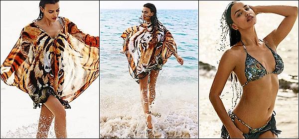 .  ●● Agua Bendita  ●●              Irina prend la pose en bikini pour promouvoir la nouvelle collection d'Agua Bendita printemps-été 15     Irina Shayk a pris la pose sur les plus belles plages colombiennes dans des tenues très légères et très colorées. J'adore le shoot ! - Vos avis   .