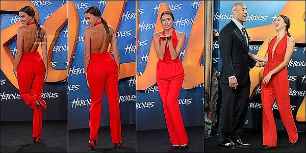 .  21/08/14 :   Irina  était présente à l'avant-première de son tout premier film, « Hercule ». qui a eu lieu à Berlin. Top      Le top russe a joué la carte sexy en s'affichant sur le tapis rouge dans une salopette dos nu au décolleté vertigineux. C'est un sans faute.   .