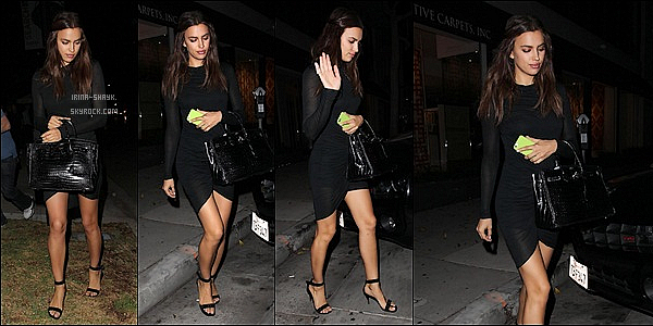 .  18/10/14 :   Irina Shayk a été apercu  sortant du restaurant japonais « Koi »   à West Hollywood, en Californie. Top !   .