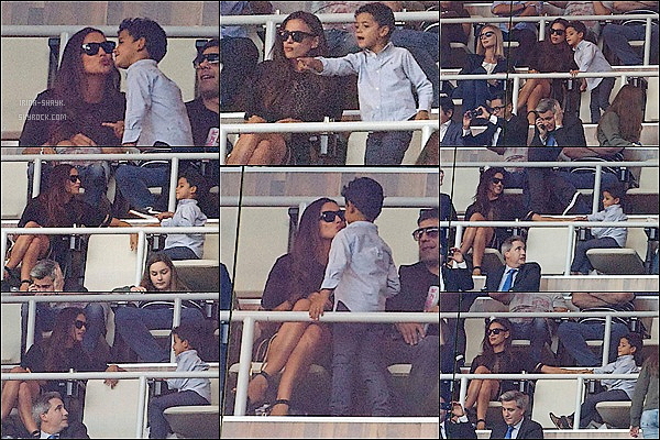.  22/10/14 :   Irina était au stade « Santiago Bernabeu » afin assister au match Real Madrid/FC Barcelone à Madrid.   .
