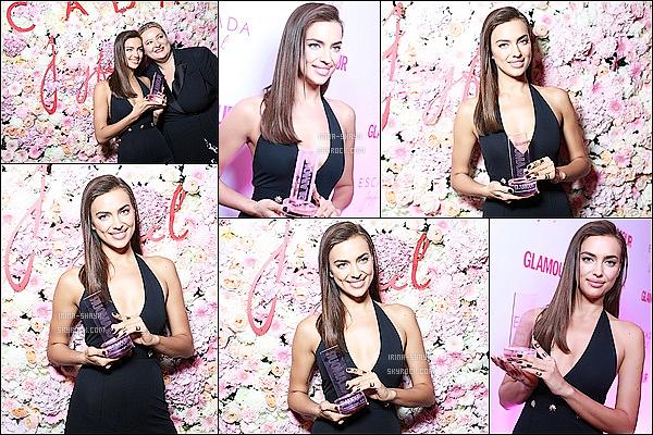 .  11/11/14 :   Irina Shayk a été élue sacrée femme de l'année par les lecteurs de l'édition russe du magazine Glamour.   Le mannequin  s'est vue remettre son prix, emmitouflée dans un beau manteau flamboyant, Irina incarne la beauté russe à la perfection.   .