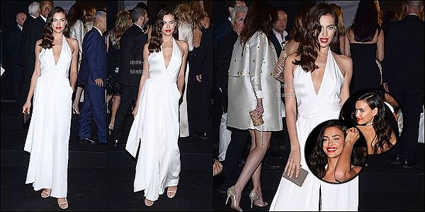 .  18/05/15 :  Le mannequin russe Irina Shayk était presente à la Gold Party  du joailler Chopard, à Cannes. TOP ?!.   Rien de mieux que la soirée de la Gold Party du joailler Chopard pour illustrer l'esprit strass et paillettes du festival de Cannes, j'adore ! Avis?    .