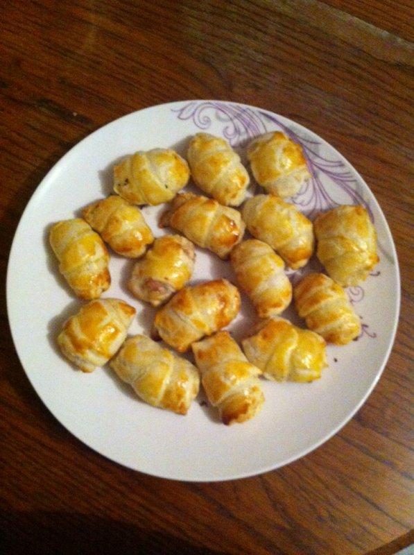 mini croissant au thon et fromage