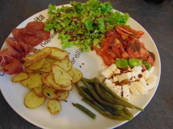 salade et chips maison