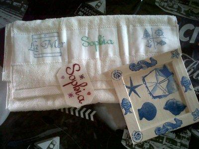 Cadre, serviette