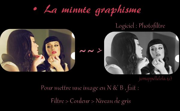 • La minute graphisme !