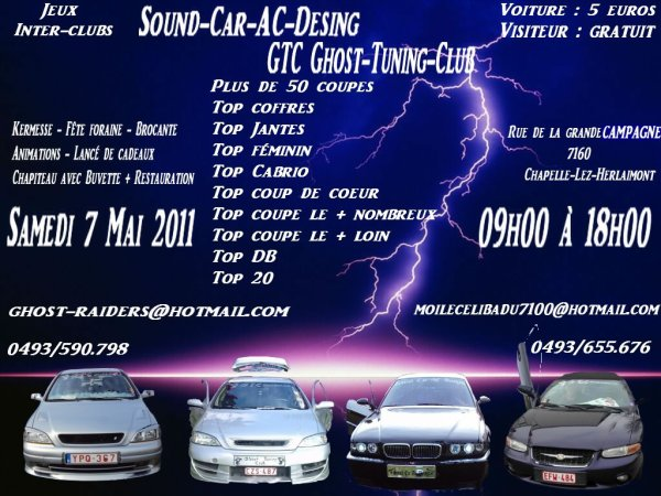 gtc ghost-tuning-club  et  sound car ac desing meeting du 7 mai 2011