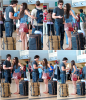 Nina et Ian on été vue lundi a l'aéroport de San Diego pour le Comic Con annuel.