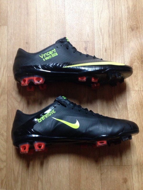 Match worn Boots Zlatan Ibrahimović