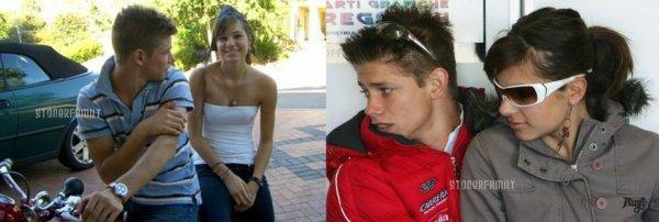 . 2003 Casey et Adriana lors de leur premières années en couple. .