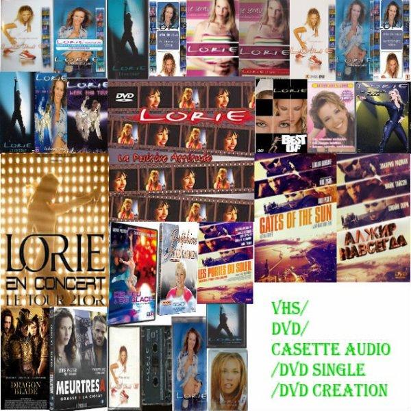 Vhs/DVD/DVD Single/DVD création/Cassette audio