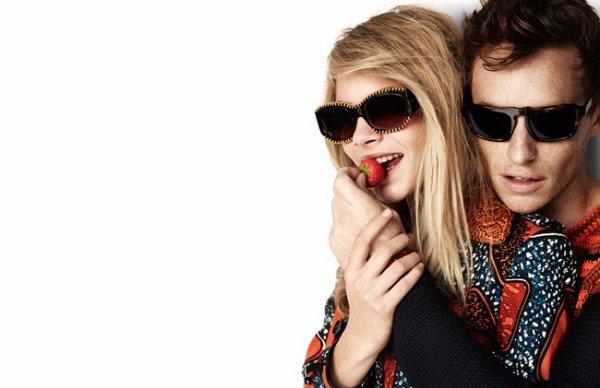 Eddie Redmayne & Cara Delevigne Burberry Spring 2012