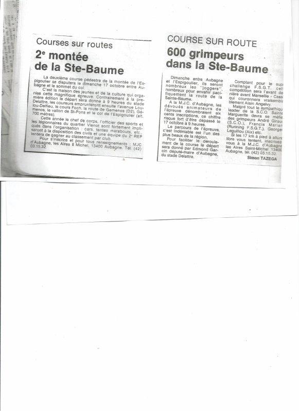 Montée pedestre de la St Baume