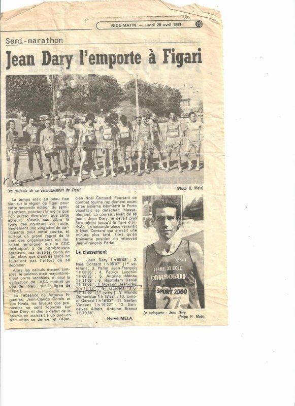 Jean DARY vainqueur à FIGARI