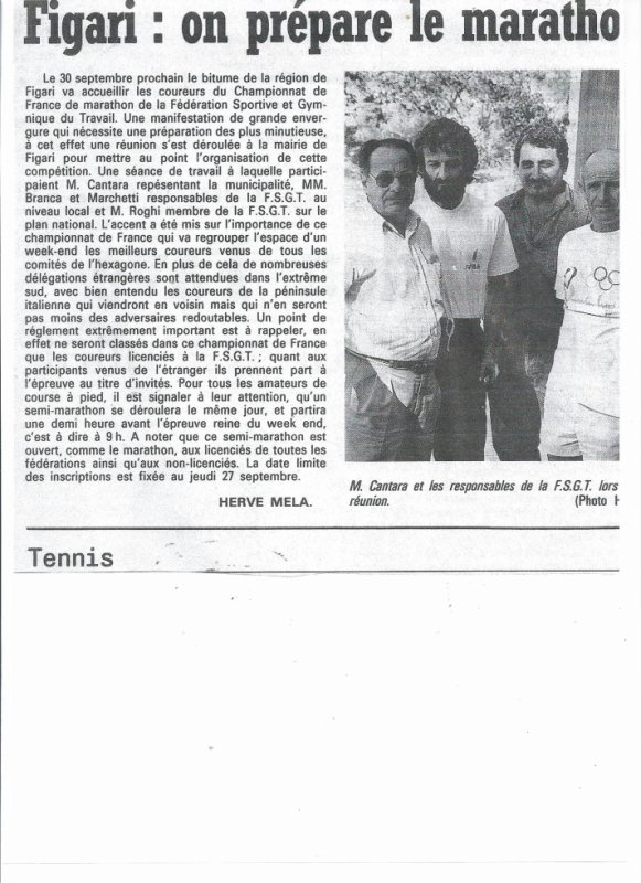C.F.  FSGT de Marathon à FIGARI 1990