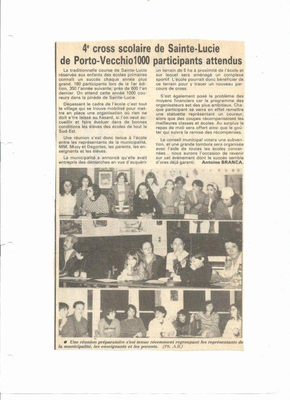 4eme Cross scolaire de Sainte-Lucie de Porto-vecchio