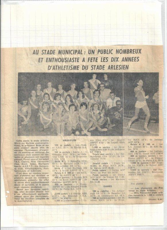 Les Dix ans du Stade Olympique Arlesien