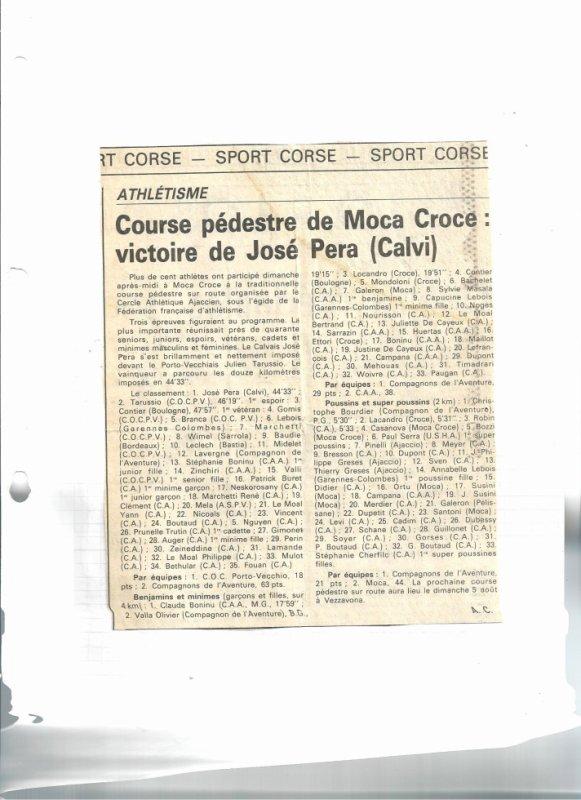 Course pedestre de Moca Croce