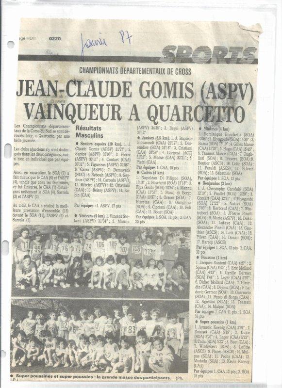 Departementaux de Cross-country 1987