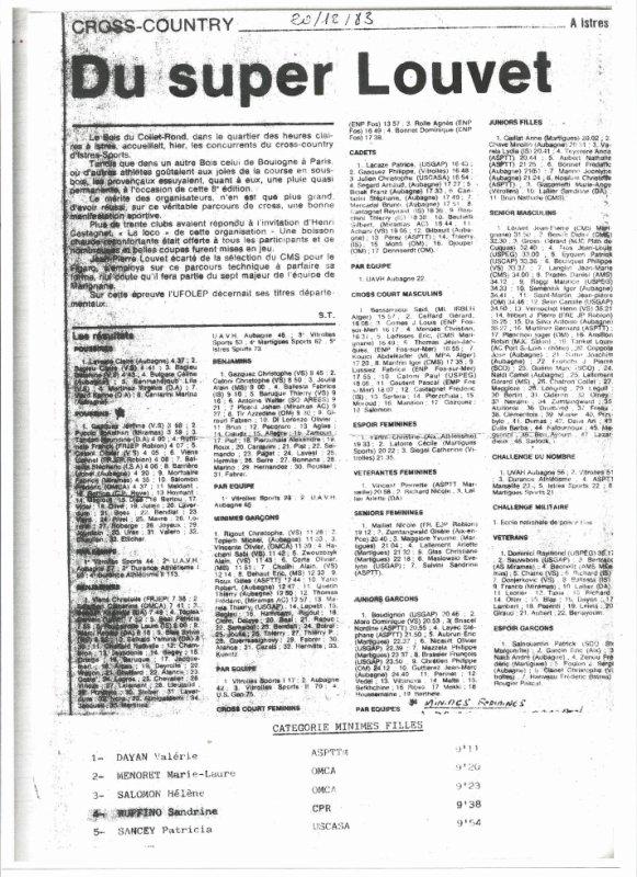 Cross d'Istres du 20 décembre 1983