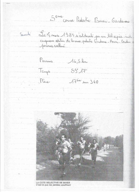 5eme Biver-Gardanne le 4 mars 1984