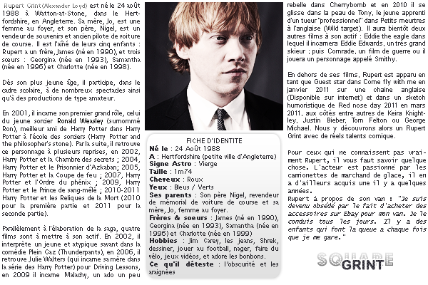 ____+article deux //-- MY GINGER WIZARD -- // BIOGRAPHIE ! //////////////////////////////////////////////////////////// / posted on July 13th
