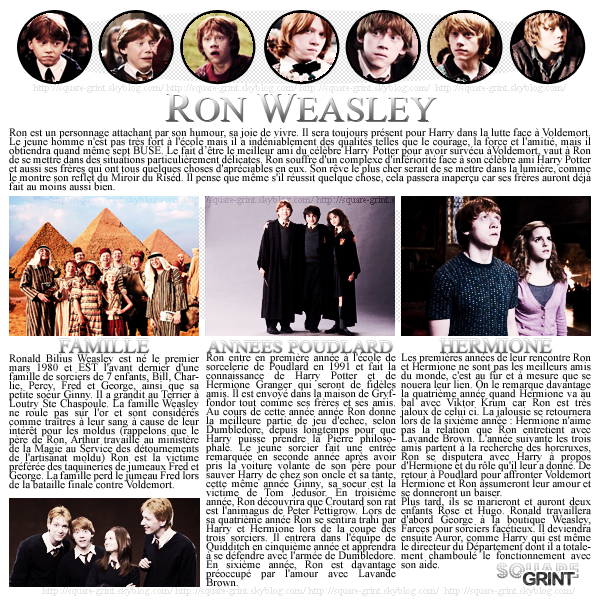 ____+article trois //-- MY GINGER WIZARD -- // RONALD WEASLEY ! //////////////////////////////////////////////////////// / posted on July 18th
