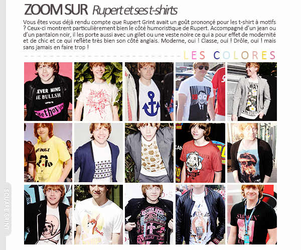 + //-- MY GINGER WIZARD -- // ZOOM SUR : Ses t-shirts //////////////////////////////////////////////// / posted on August 3rd