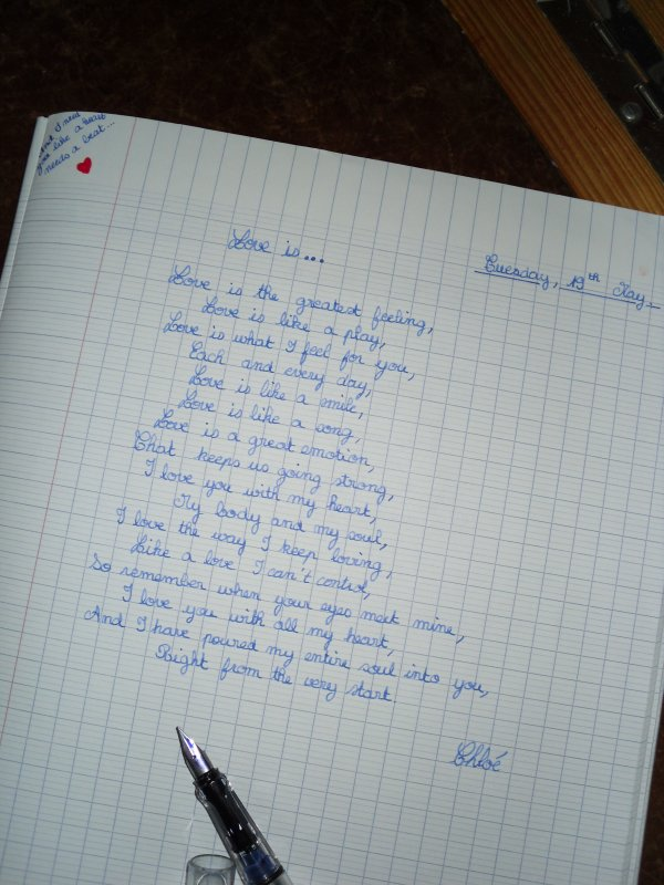 """""""Je t'aime, c'est ma plume qui te l'écrit. Et c'est mon coeur qui te le dit."""""""