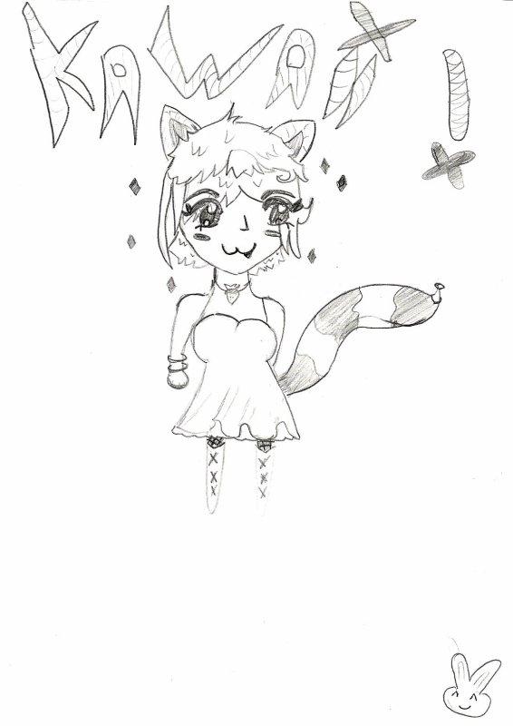 de mes premier dessin pa vraiment tres bien fait mai c dja un debut ^^