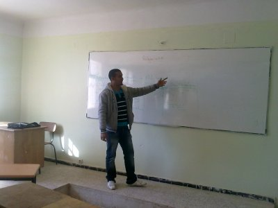 e voila moi quand j'étai teacher in the university of laghouat.......