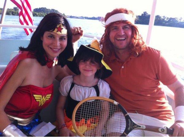 catherine bell et son mari Adam Beason et leur fille gemma