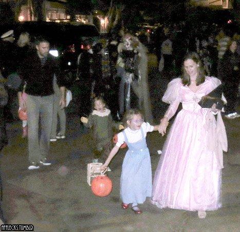 famille affleck pour Halloween 2012