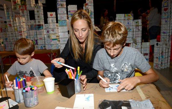 Jessica Capshaw & Kim Raveret leurs fils