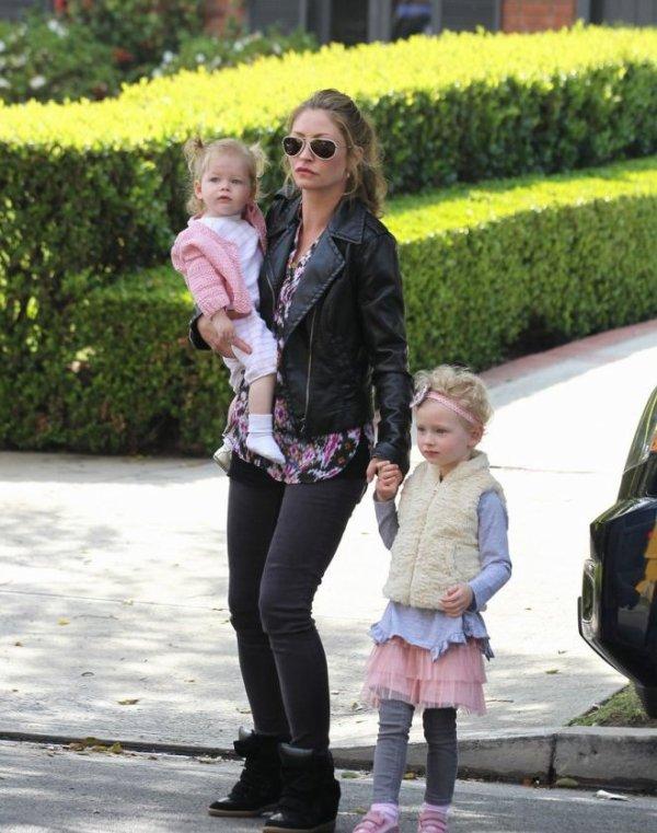 Eric Dane et Rebecca Gayheart et leur filles georgia et Billie Beatrice