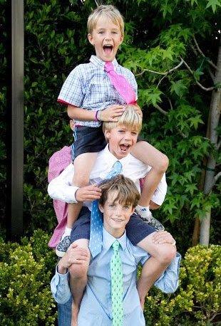 Christopher Jr, Charles et Finley O'Donnell