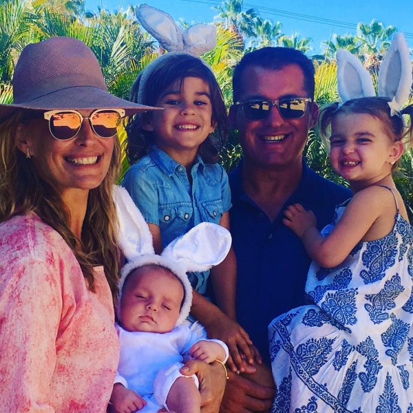 Molly Sims, Scott Stuber, Grey, Scarlett et Brooks