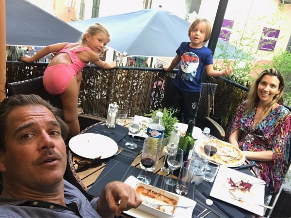 Michael Weatherly, Bojana Jankovic, Liam et Olivia