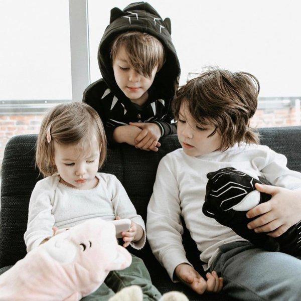 Odette, Austin et Thomas Padalecki