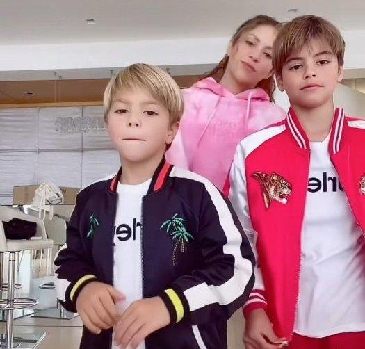 Shakira, Milan et Sasha