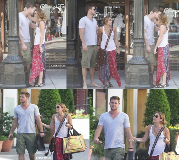 Le 25.08.2011: Liam Hemsworth et Miley Cyrus à Santa Monica