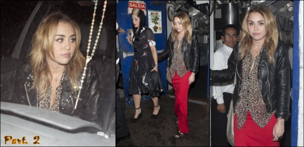 Miley le 27/10/2011
