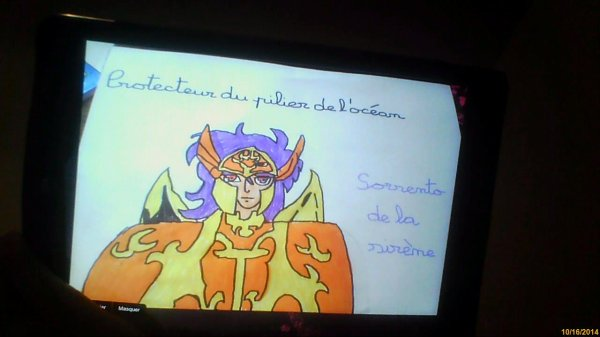 dessin Sorrento de la Sirène pour fairy