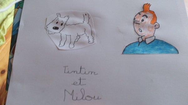 Dessin Tintin et Milou