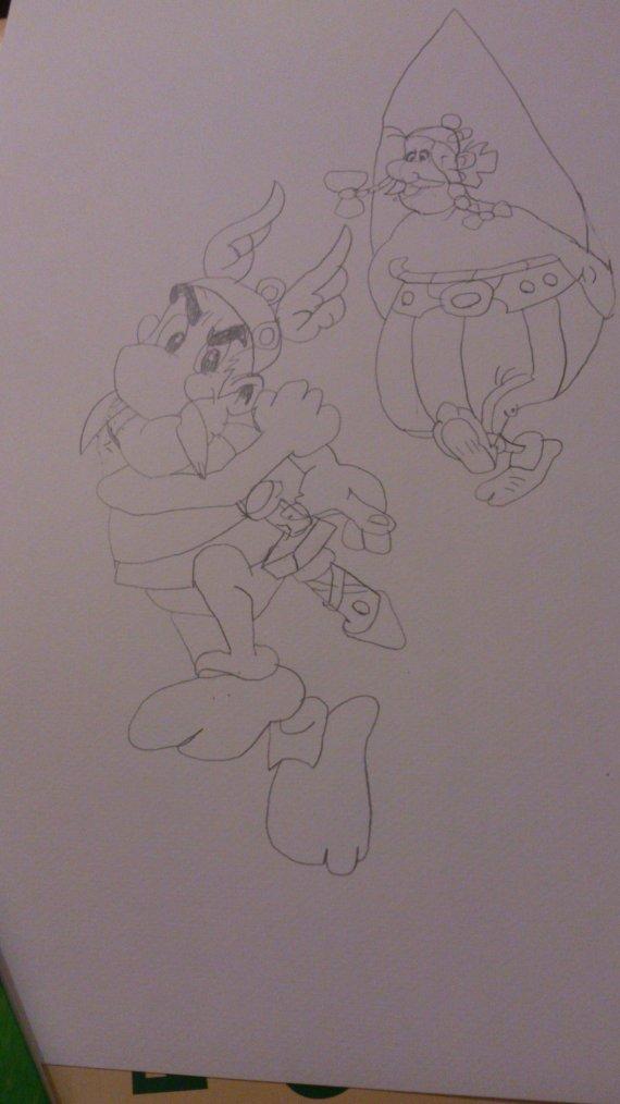 Dessin Astérix et Obélix